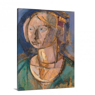Head Of A Girl By Gino Rossi 1920 Venice Italy Wall Art - Canvas - Gallery Wrap