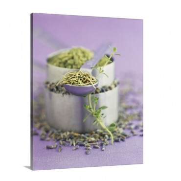 Herbs Du Provence Lavender Thyme Rosemary And Fennel Wall Art - Canvas - Gallery Wrap