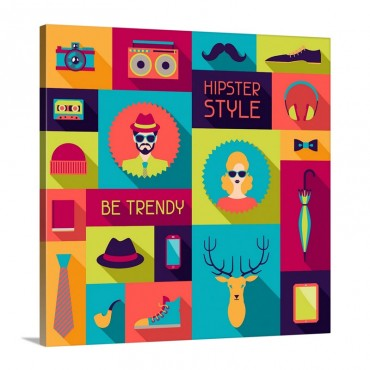 Hipster Style Wall Art - Canvas - Gallery Wrap