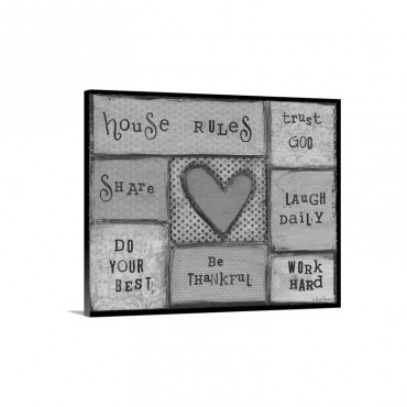 House Rules Wall Art - Canvas - Gallery Wrap