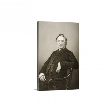 Hugh Stowell 1799 1845 Engraved By DJ Pound From A Photograph fFrom 'The Drawing Roo Wall Art - Canvas - Gallery Wrap