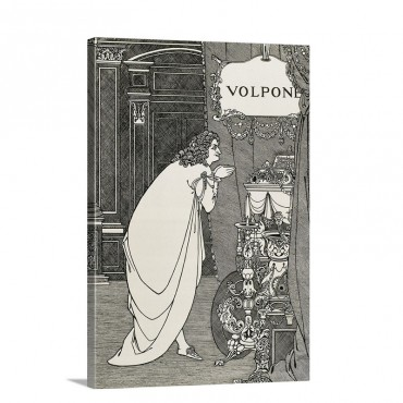 Illustration Of The Front Page Volpone Wall Art - Canvas - Gallery Wrap
