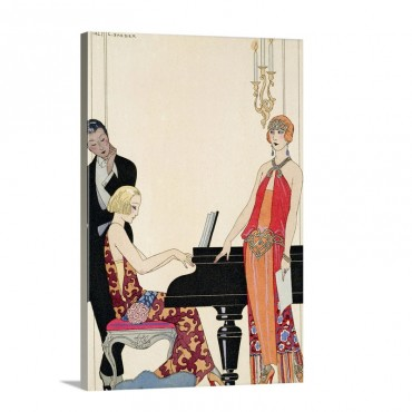 Incantation illustration For Gazette Du Bon Ton 1922 Wall Art - Canvas - Gallery Wrap