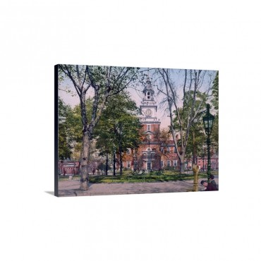 Independence Hall Philadelphia Wall Art - Canvas - Gallery Wrap