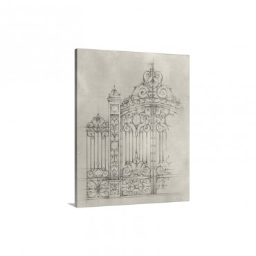 Iron Gate Design I Wall Art - Canvas - Gallery Wrap