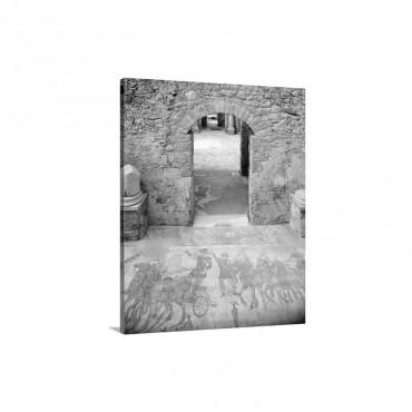 Italy Sicily Piazza Armerina Villa Romana Del Casale Mosaics Wall Art - Canvas - Gallery Wrap
