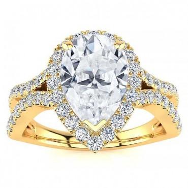 Jasmine Moissanite Ring - Yellow Gold