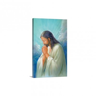 Jesus Praying Wall Art - Canvas - Gallery Wrap