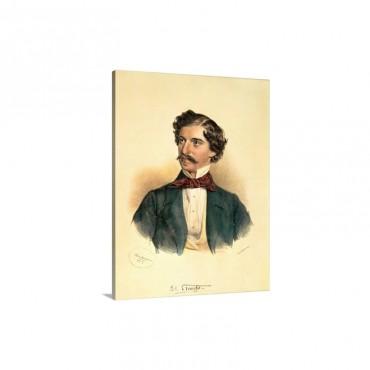 Johann Strauss The Elder 1804 49 Drawing With Wash Wall Art - Canvas - Gallery Wrap