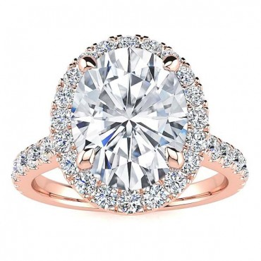 Josaleen Moissanite Ring - Rose Gold