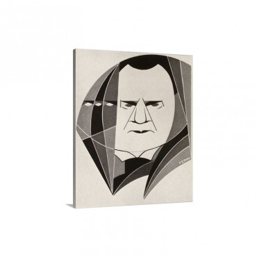 Joseph Hilaire Pierre Rene Belloc Drawing By H A  Perry 1931 Wall Art - Canvas - Gallery Wrap