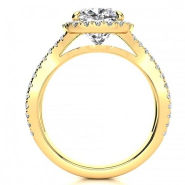 Julia Moissanite Ring - Yellow Gold