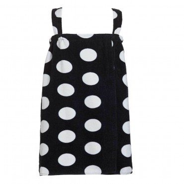 Polka Dot Terry Bath Wraps with Shoulder Straps for Girls