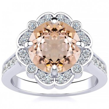 Karen Morganite Ring - White Gold