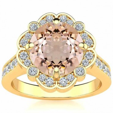 Karen Morganite Ring - Yellow Gold