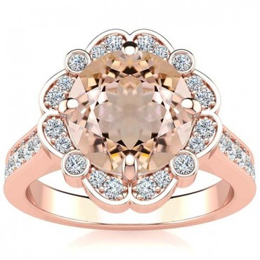 Karen Morganite Ring - Rose Gold