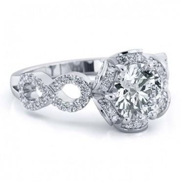 Katie Moissanite Ring - White Gold
