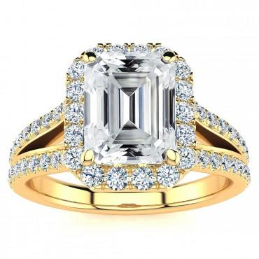 Kenzie Moissanite Ring - Yellow Gold