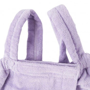 Terry Bath Wraps with Shoulder Straps for Girls