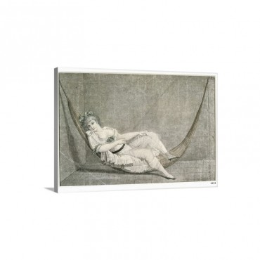 Lady From Panama On A Sun Lounger Expedition Of Malaspina 1789 94 Wall Art - Canvas - Gallery Wrap