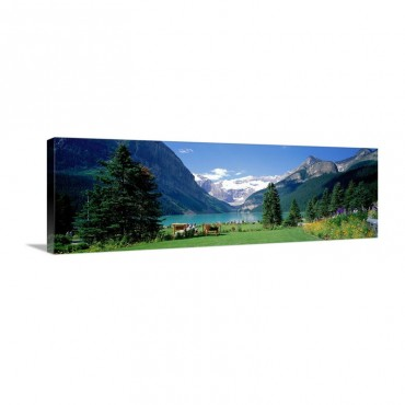 Lake Louise Banff National Park Alberta Canada Wall Art - Canvas - Gallery Wrap