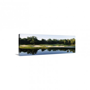 Lake In A Golf Course Kiawah Island Golf Resort Kiawah Island Charleston County South Carolina Wall Art - Canvas - Gallery Wrap