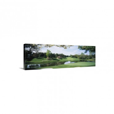 Lake On A Golf Course Congressional Country Club Bethesda Maryland Wall Art - Canvas - Gallery Wrap