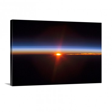 Layers Of Earths Atmosphere Brightly Colored As The Sun Sets Over South America Wall Art - Canvas - Gallery Wrap
