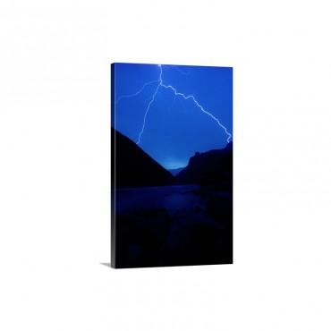 Lightning Strike Grand Canyon Wall Art - Canvas - Gallery Wrap