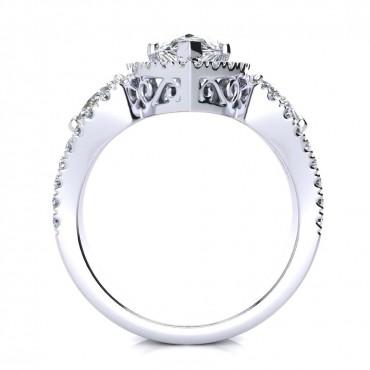 Lisa Diamond Ring - White Gold