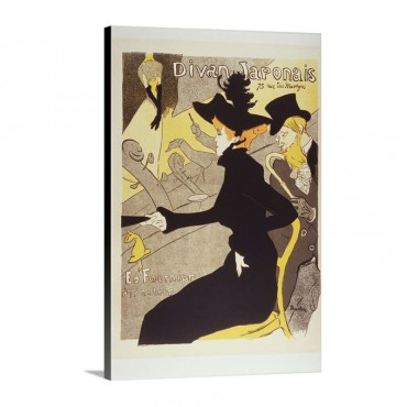Lithograph Divan Japonais By Henri De Toulouse Lautrec Wall Art - Canvas - Gallery Wrap