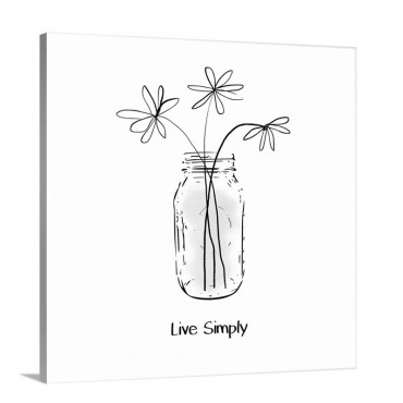 Live Simply Wall Art - Canvas - Gallery Wrap