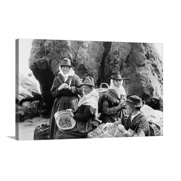 Llangwm Fishwives 1890 Wall Art - Canvas - Gallery Wrap