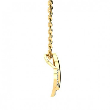 Love Diamond Necklace - Yellow Gold