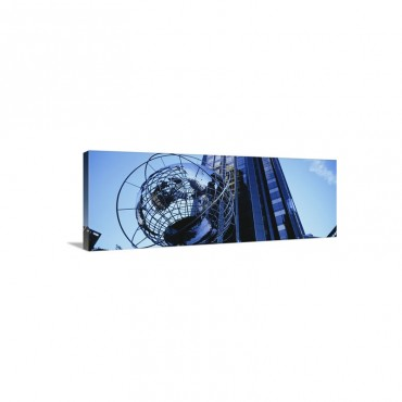 Low Angle View Of A Sculpture In Front Of A Building Time Warner Center Midtown Manhattan New York City New York State Wall Art - Canvas - Gallery Wrap