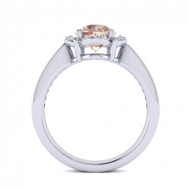 Luna Morganite Ring - White Gold