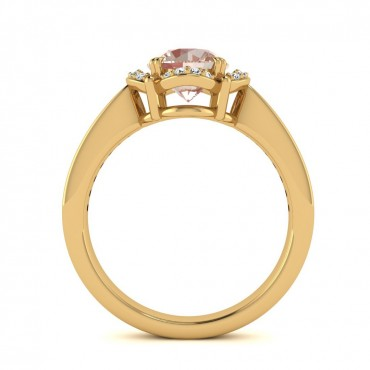 Luna Morganite Ring - Yellow Gold