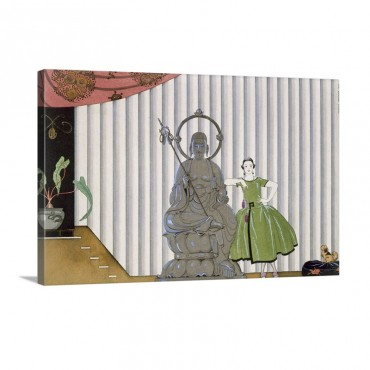 Mademoiselle Spinelly Chez Elle 1920 Wall Art - Canvas - Gallery Wrap