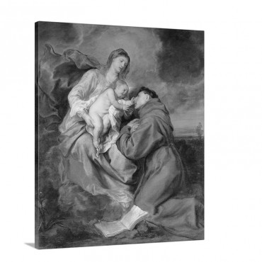 Madonna With Child And St Anthony Of Padua 17Th C Brera Gallery M Wall Art - Canvas - Gallery Wrap