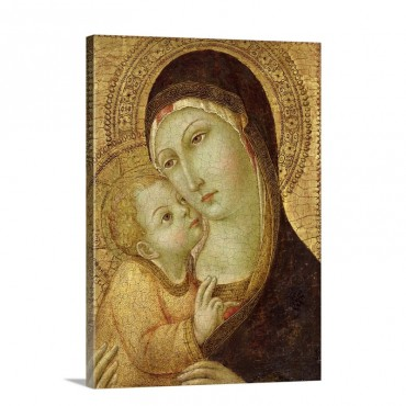Madonna And Child Wall Art - Canvas - Gallery Wrap
