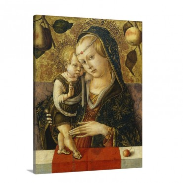 Madonna And Child C 1490 Wall Art - Canvas - Gallery Wrap