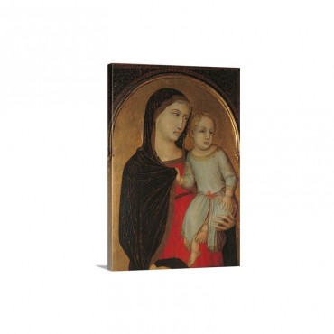 Madonna And Child By Pietro Lorenzetti After 1340 Palazzo Vecchio Florence Italy Wall Art - Canvas - Gallery Wrap