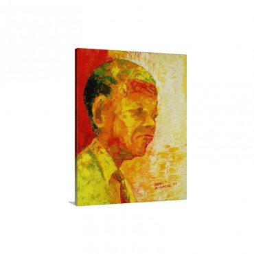 Mandela 1993 Wall Art - Canvas - Gallery Wrap