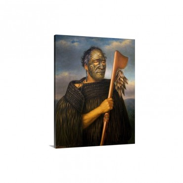 Maori Chief Tamati Waka Nene By Gottfried Lindauer Wall Art - Canvas - Gallery Wrap