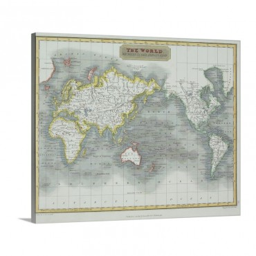 Map Of The World Wall Art - Canvas - Gallery Wrap
