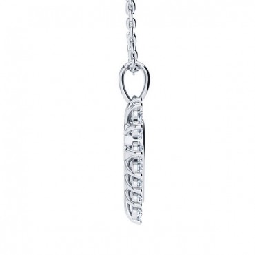 Maria Diamond Necklace - White Gold