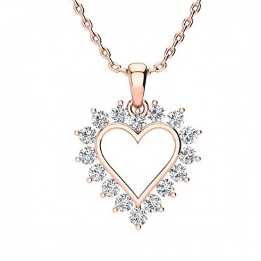 Maria Diamond Necklace - Rose Gold