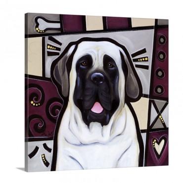 Mastiff Pop Art Wall Art - Canvas - Gallery Wrap