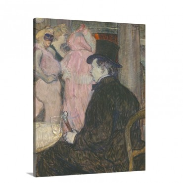 Maxime Dethomas By Henri De Toulouse Lautrec 1896 Wall Art - Canvas - Gallery Wrap