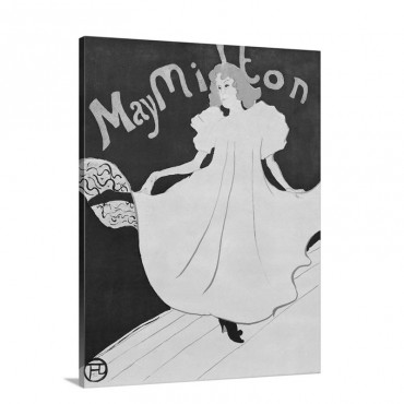 May Milton By Henri De Toulouse Lautrec Wall Art - Canvas - Gallery Wrap
